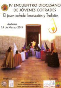 Cartel anunciador del IV encuentro diocesano de jóvenes cofrades.